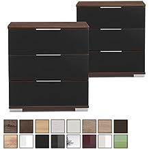 suchergebnis auf f r nachttisch nussbaum schwarz. Black Bedroom Furniture Sets. Home Design Ideas