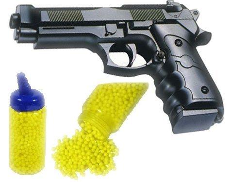 Nerd Clear Softair-Pistole Beret ab 3 Jahren inkl. 4000 Kugeln schwarz 6 mm ABS ca. 22cm lang Kinder-Pistole Kinder-Spielzeug