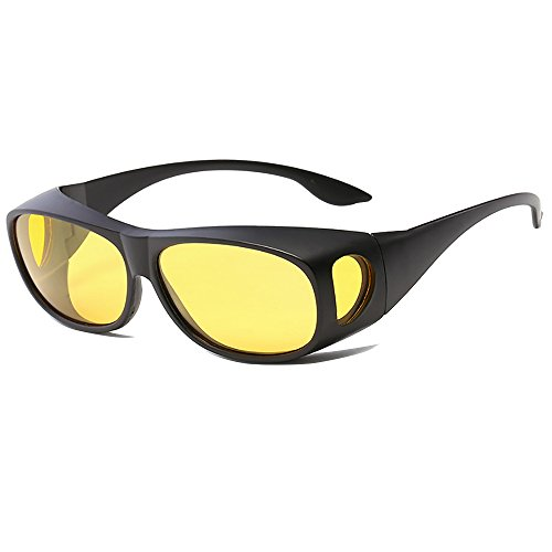Blaufilterbrille Blaulicht und UV Schutzbrille Computerbrille Gaming Brille Überziehbrille für Brillenträger Fit-over Brille …
