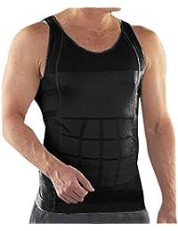 Para hombre TopTie cuerpo-former-chaleco-camisa Abs fitnessexpress enjutos