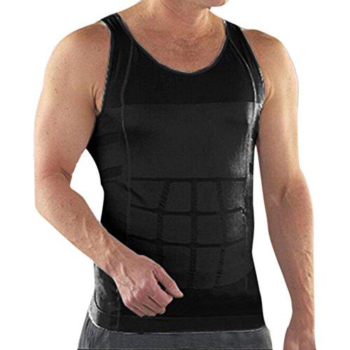 TopTie Herren Abnehmen Body Shaper Bauch Taille Weste Shirt Bauch Slim, Muscle Tank M Schwarz