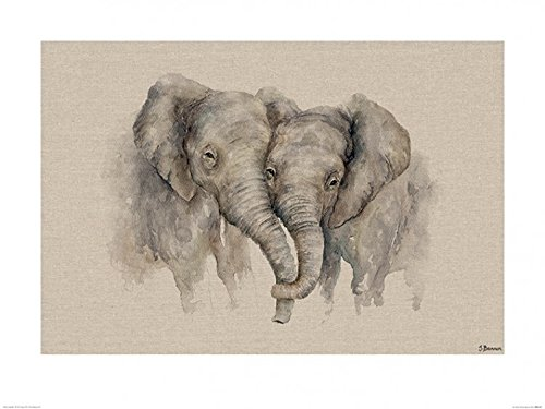 1art1® Elefantes - Soul Mates, Jane Bannon Póster Impresión Artística (80 x...