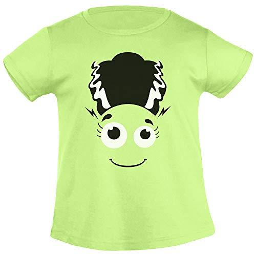 T Shirt Halloween Frankenstein`s Braut Kostüm Mädchen Mädchen T-Shirt 106/116 (5-6J) (Kind Braut Von Frankenstein Kostüm)