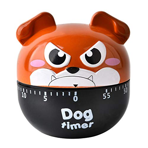 cuigu Küche Timer, Cartoon Hund Kochen Backen Mechanischer Wecker Sleeping erinnern Uhren app.6.5cmx7cm/2.56inx2.76in braun