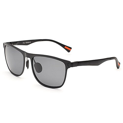 Ppy778 Mens Hot Fashion Driving Metallrahmen polarisierte Sonnenbrille für Männer (Color : Brown)