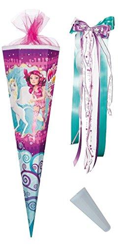 Preisvergleich Produktbild Mia and Me Schultüte 85cm - türkis mit passender Schleife und Spitzenschutz