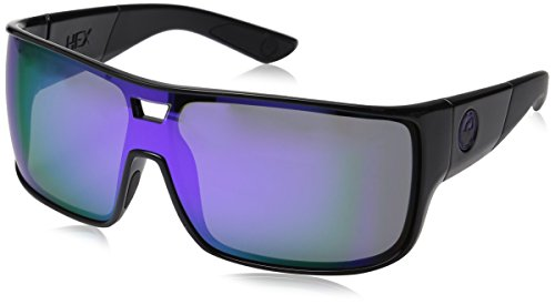 Dragon Herren DR HEX Brillengestelle, Schwarz (Shiny Black-Purple Ion), 74.0