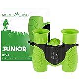 Monte Stivo  Junior | Fernglas für Kinder 8x21 mit Eye-Protect | Geschenk für kleine Entdecker & Abenteurer
