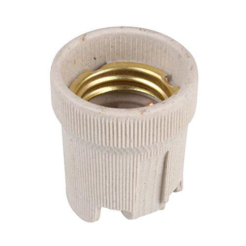 Gladle Porte-lumière en porcelaine Vis E27 Prise de lampe en céramique haute température 40 mm de diamètre