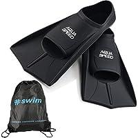 Aqua Speed Fusion Aletas largas de natación para Adultos y niños + ULTRAPOWER #Swim | negro/07 | Tamaño: 41/42
