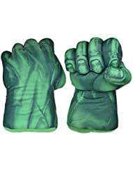 DSstyles Boxing Gloves 1 Pair Fist Gloves 11 inch Soft Plush Gloves for Kids Cosplay Gloves - Green