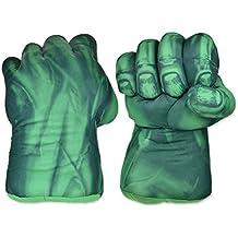 DSstyles guantes de boxeo 1 par de guantes de puño 11 pulgadas guantes de peluche suave para los niños Guantes de cosplay - verde