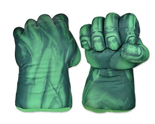 DSstyles Boxhandschuhe 1 Paar Faust Handschuhe 11 Zoll Soft Plüsch Handschuhe für Kinder Cosplay Handschuhe - Grün (Kinder-hulk)