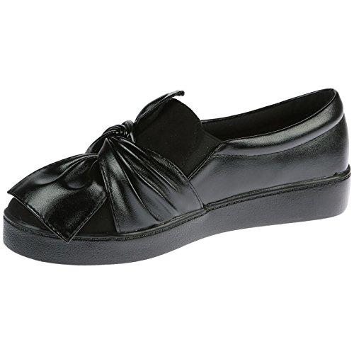 ByPublicDemand Paisley Femme Talons bas chaussure de tennis Noir