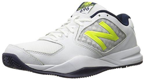 New Balance Men's 696v2 Lightweight Tennis Shoe, Riptide/Firefly, 9 D US