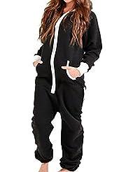 OMSMY Damen Overalls Anzug Stück Pyjamas Overall Jumpsuit Hoodie Hoody Sweatshirt