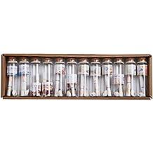 12 Piezas Mini Tapón Corcho de Botella Transparentes Colgante de Suerte Diseño Tarros ...