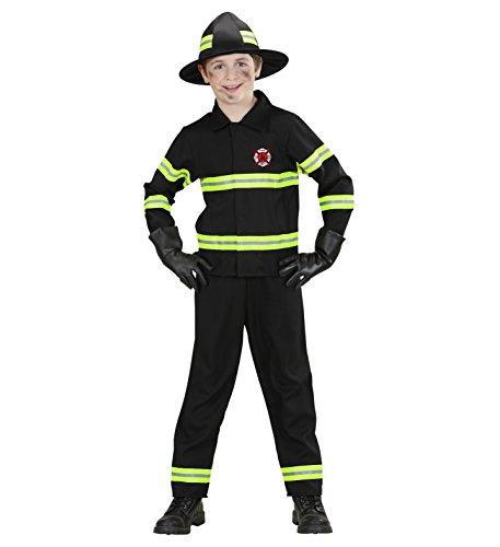 Kinder-Kostüm Feuerwehr-mann Kostüm Gr. L 158 11-13 Jahre Feuerwehr-Kostüm Feuerwehr-Uniform Hose Jacke Fasching-Kostüm Karneval-Verkleidung THW Anzug zum Feuer-Löscher Feuerwehr-Helm