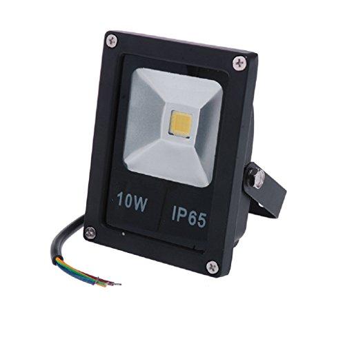 FEITONG LED blanco cálido Luz de inundación al aire libre Jardín IP65 a prueba de agua 10W/20W/30W/50W (10W)