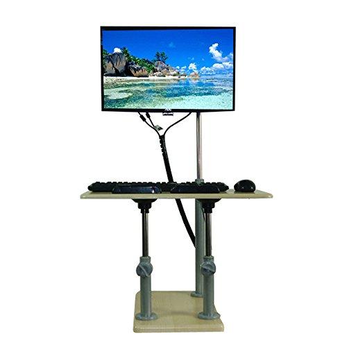 Zhuozi FUFU Wandhalterung Mobile ergonomische Stand Up Desk Computer Workstation Höhe kann einstellbar Sein Drop-Blatt-Tabelle - Höhe Workstation