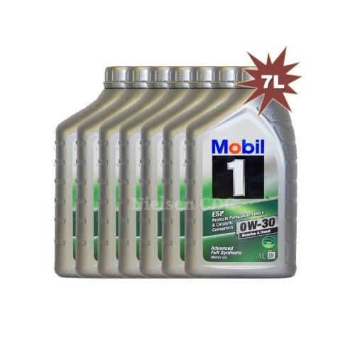 Mobil 10W-30ESP Synthetisches Motorenöl mob-151902–7–7x 1L = 7l (Mobil 1 Filter)