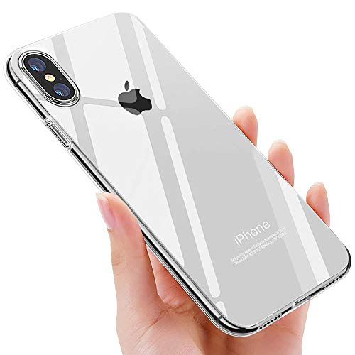 iPhone XS Handyhülle , iPhone X Schutzhülle , otutun iPhone XS Crystal Schutzhülle TPU Bumper Cover Kratzfeste Weich Silikon Hülle für Apple iPhone XS/iPhone X Case Cover - Transparent
