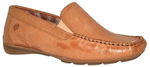 JJ Footwear Damen Schuh Leder Barcelona Normal Kamel Wash Pampa