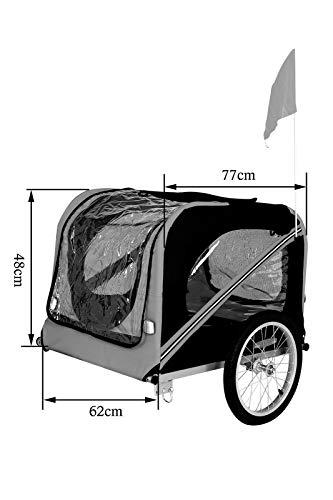 Dibea pt10756Perros–Remolque para Bicicleta con Acoplamiento y Seguridad Correas, 2Colores, Azul/Negro