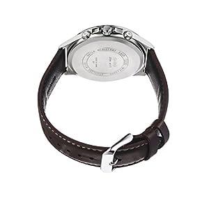 Casio reloj infantil de cuarzo con para hombre esfera analógica blanca y correa de piel color marrón MTP-E303L-7AVEF de Casio