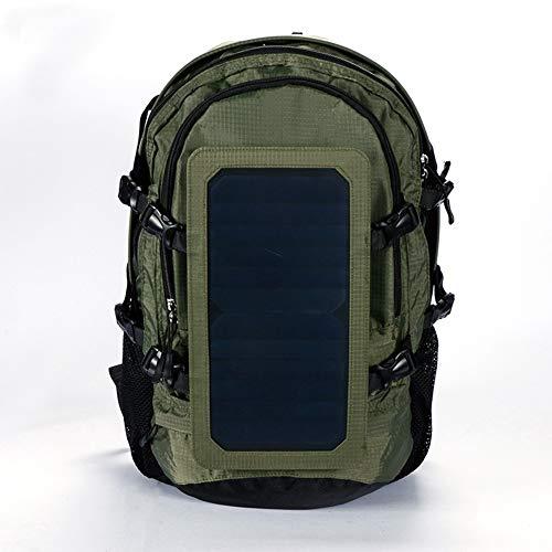 OLDWANG 6.5 Watt Solar Rucksack Solarpanel Solar-Panel Rucksack mit USB Ladeanschluss Stadt Ladegerät Smartphones 35L für iPhone 7 / 7s / 6s / 6, iPad Air 2 / Mini 3, TabletArmy Green