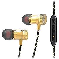 Écouteurs, 10principales Sports son stéréo Écouteurs intra-auriculaires isolant du bruit casque avec micro et de contrôle pour iPhone smartphones Android