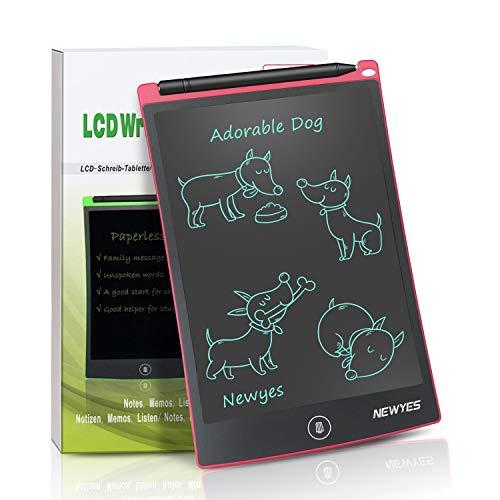 NEWYES NYWT850 Tavoletta Grafica LCD Scrittura, 8,5 Pollici di Lunghezza - Vari Colori(Rosso)