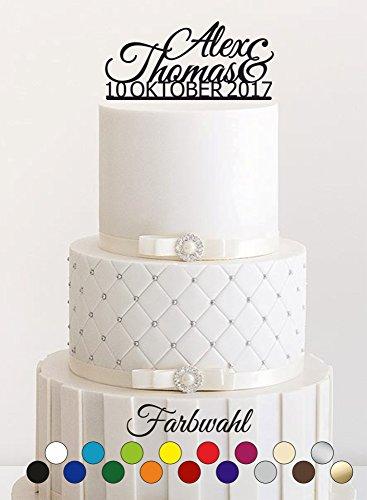 Cake Topper, Tortenstecker, - Individuell - Tortefigur Acryl, Tortenständer - Farbwahl - Etagere Hochzeit Hochzeitstorte