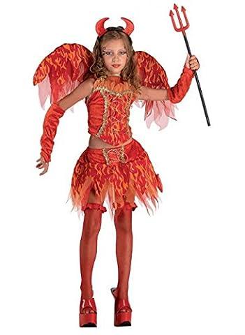 Teufelinkostüm Mädchenkostüm Devilkostüm, Größe:152 (Kühle Halloween-kostüme 2016)