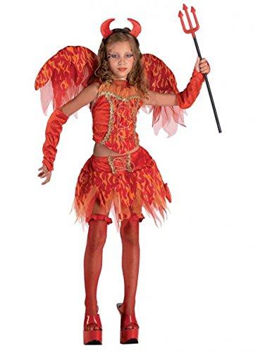 Teufelinkostüm Mädchenkostüm Devilkostüm, Größe:152