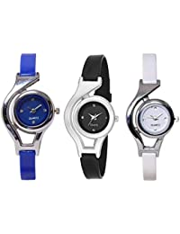 The Shopoholic Analogue Multicolor Dial Combo of 3 Women's Watch