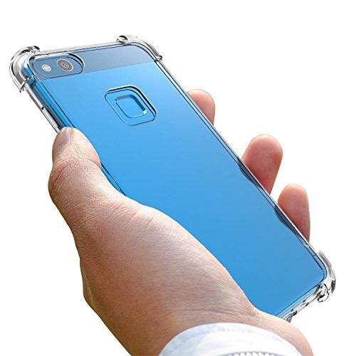 Cover Huawei P10 Lite 2017, J Jecent Custodia Huawei P10 Lite Anticaduta Antigraffio Antiurto Clear TPU Morbida Silicone…