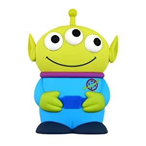 Alexis Gadget Disney 3D Toy Story 3 Yeux Alien Eye mobile Etui Protecteur Iphone 4/4S Shield cadeaux (Bleu)
