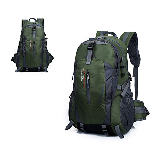 Imagen de 40l  bolsa de deporte escalada acampada al aire libre impermeable nylon army verde