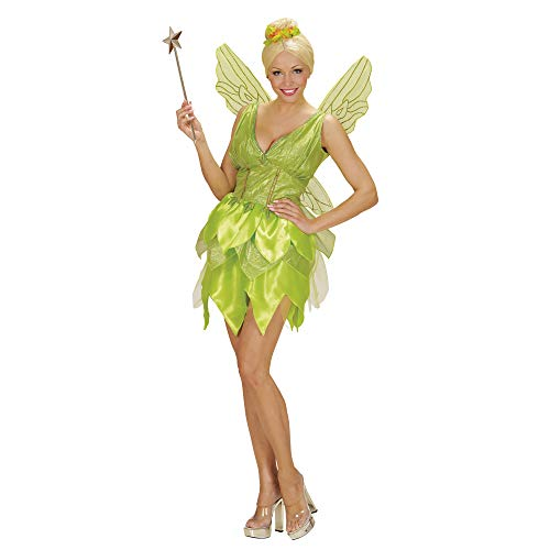 WIDMANN 02293 - Erwachsenen Kostüm Fantasy Fairy Kleid, Flügel, Größe L, hellgrün