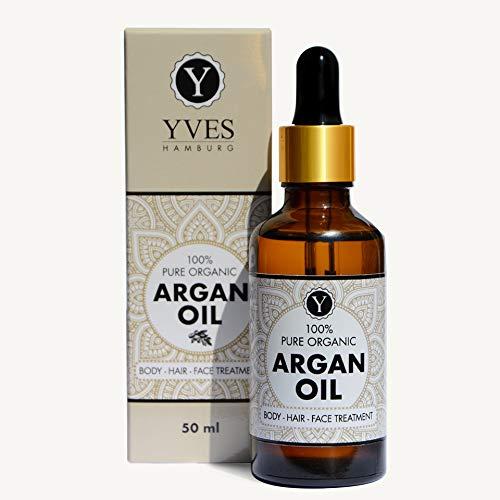 BIO Argan Öl Vegan 50 ml Gesicht Körper und Haare Antiaging Bartöl Hautöl Gesichtsöl Körperöl Haarpflege Haarkur Massageöl Naturkosmetik Akne Pikel Psoriasis Schwangerschaftsstreifen Hautrisse Nasenöl