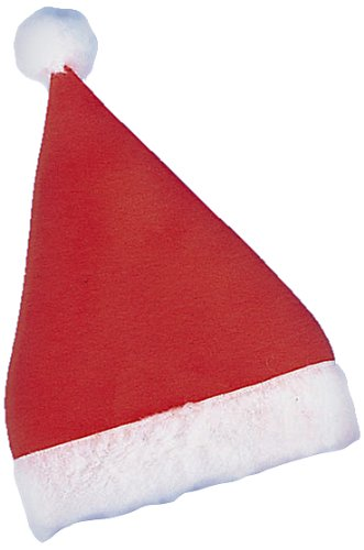Cappuccio di Babbo Natale economico cappello rosso in panno cappellino