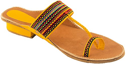 Fancy Kolhapuri Chappal For Women With Hills|Colorfull Kolhapuri Chappal with Hills (5)  available at amazon for Rs.299