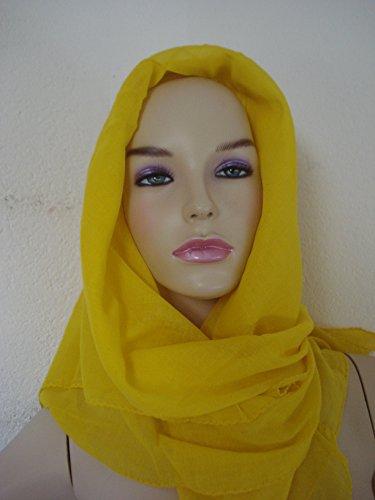 Cypacc foulard en coton uni, 100 x 100 cm-online naturwaren, marron, ca. 100x100cm jaune