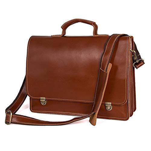 Full-grain-leder-shell (Lianai11 Laptoptasche Herren Aktentasche Full Grain Leather Tote Herren Crossbody Herren Leder Laptop Tasche Aktentasche)