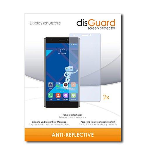 disGuard® Bildschirmschutzfolie [Anti-Reflex] kompatibel mit Haier Phone L53 [2 Stück] Entspiegelnd, Matt, Antireflektierend, Extrem Kratzfest, Anti-Fingerabdruck - Panzerglas Folie, Schutzfolie