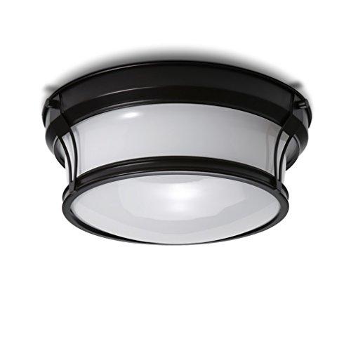 ZHDC® Schlafzimmer Deckenleuchte, rund Einfaches Wohnzimmer Küche und WC Lichter Balkon Lichter Eisen Glas Lampenschirm Einlass Lichter LED Leicht zu reinigende Deckenlampe