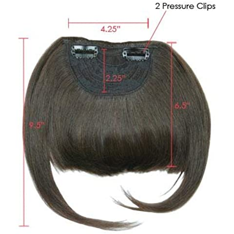 supermodel Human Hair Clip In On Bangs Hair Fringe Extensions-