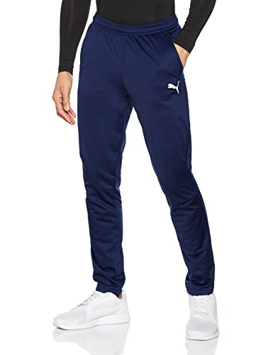 PUMA Herren Liga Training Pant Core Hose, blau(Peacoat-Puma White), XL