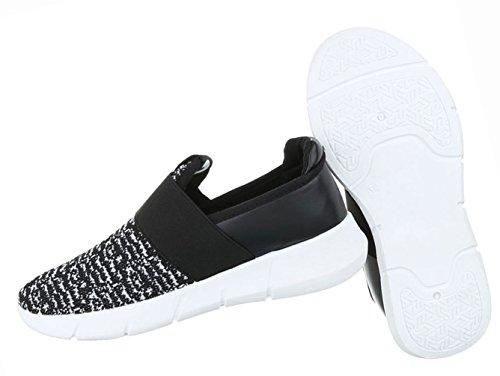 Damen Schuhe Halbschuhe Slipper Freizeitschuhe Freizeitschuhe Schwarz Schwarz